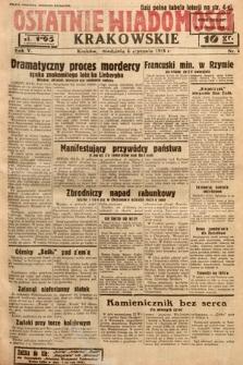 Ostatnie Wiadomości Krakowskie. 1935, nr6