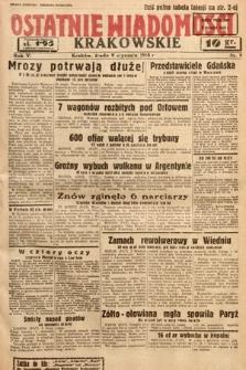Ostatnie Wiadomości Krakowskie. 1935, nr9