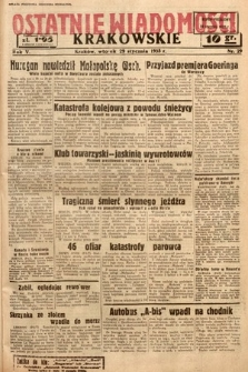 Ostatnie Wiadomości Krakowskie. 1935, nr29