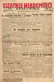 Ostatnie Wiadomości Krakowskie. 1935, nr35