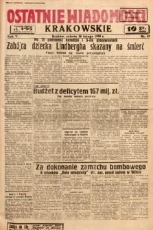 Ostatnie Wiadomości Krakowskie. 1935, nr47