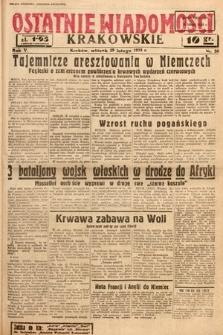 Ostatnie Wiadomości Krakowskie. 1935, nr50