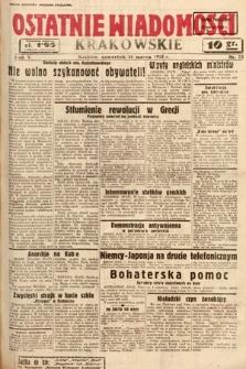 Ostatnie Wiadomości Krakowskie. 1935, nr73
