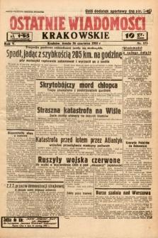 Ostatnie Wiadomości Krakowskie. 1935, nr175