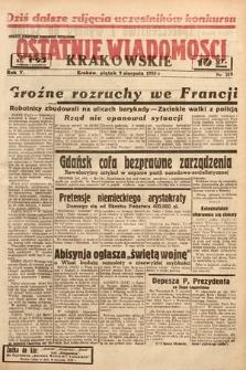 Ostatnie Wiadomości Krakowskie. 1935, nr219