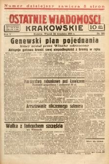 Ostatnie Wiadomości Krakowskie. 1935, nr265
