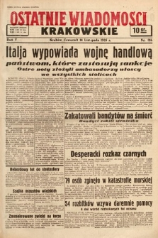 Ostatnie Wiadomości Krakowskie. 1935, nr316