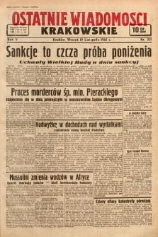 Ostatnie Wiadomości Krakowskie. 1935, nr321