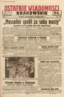 Ostatnie Wiadomości Krakowskie. 1935, nr356