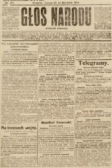 Głos Narodu (wydanie poranne). 1914, nr187