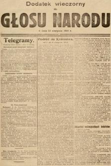 Głos Narodu (wydanie wieczorne). 1914, nr187