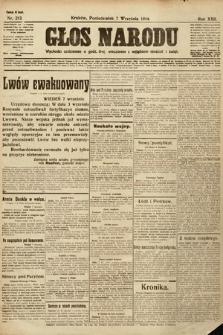 Głos Narodu (wydanie wieczorne). 1914, nr213