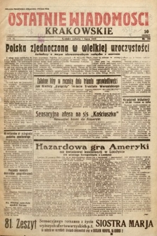 Ostatnie Wiadomości Krakowskie. 1933, nr180
