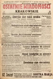 Ostatnie Wiadomości Krakowskie. 1933, nr183