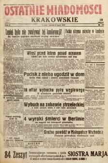 Ostatnie Wiadomości Krakowskie. 1933, nr187