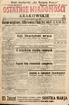 Ostatnie Wiadomości Krakowskie. 1933, nr188