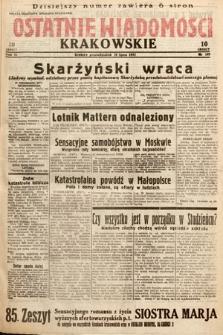 Ostatnie Wiadomości Krakowskie. 1933, nr189
