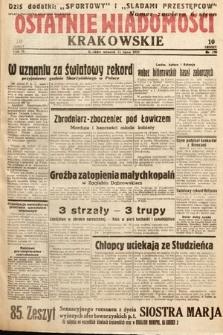 Ostatnie Wiadomości Krakowskie. 1933, nr190