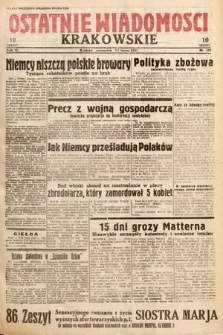 Ostatnie Wiadomości Krakowskie. 1933, nr192