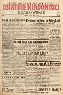Ostatnie Wiadomości Krakowskie. 1933, nr193