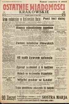 Ostatnie Wiadomości Krakowskie. 1933, nr200