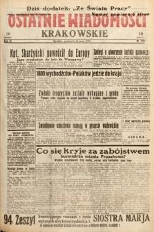Ostatnie Wiadomości Krakowskie. 1933, nr209
