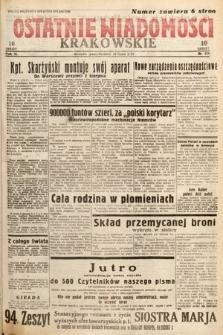 Ostatnie Wiadomości Krakowskie. 1933, nr210