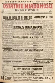 Ostatnie Wiadomości Krakowskie. 1933, nr211