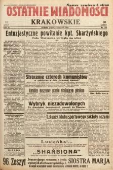 Ostatnie Wiadomości Krakowskie. 1933, nr214