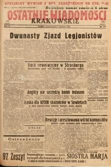 Ostatnie Wiadomości Krakowskie. 1933, nr217