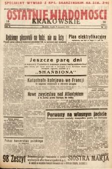 Ostatnie Wiadomości Krakowskie. 1933, nr219