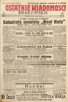Ostatnie Wiadomości Krakowskie. 1933, nr221
