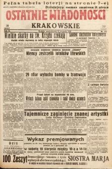 Ostatnie Wiadomości Krakowskie. 1933, nr224