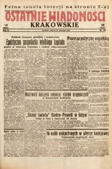 Ostatnie Wiadomości Krakowskie. 1933, nr228