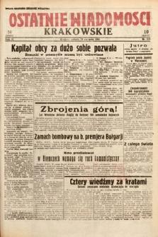 Ostatnie Wiadomości Krakowskie. 1933, nr229