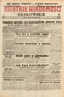 Ostatnie Wiadomości Krakowskie. 1933, nr232