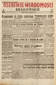 Ostatnie Wiadomości Krakowskie. 1933, nr236