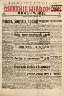Ostatnie Wiadomości Krakowskie. 1933, nr241