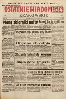 Ostatnie Wiadomości Krakowskie. 1933, nr242