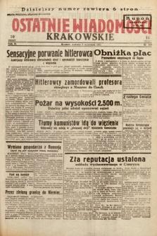 Ostatnie Wiadomości Krakowskie. 1933, nr243