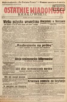 Ostatnie Wiadomości Krakowskie. 1933, nr244