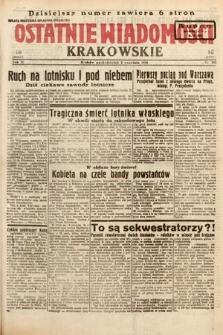 Ostatnie Wiadomości Krakowskie. 1933, nr245