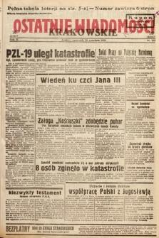 Ostatnie Wiadomości Krakowskie. 1933, nr255