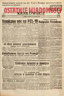 Ostatnie Wiadomości Krakowskie. 1933, nr256
