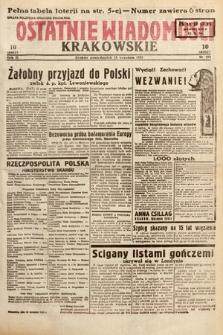 Ostatnie Wiadomości Krakowskie. 1933, nr259