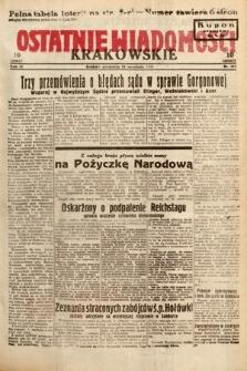 Ostatnie Wiadomości Krakowskie. 1933, nr265