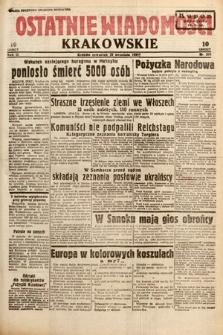 Ostatnie Wiadomości Krakowskie. 1933, nr269