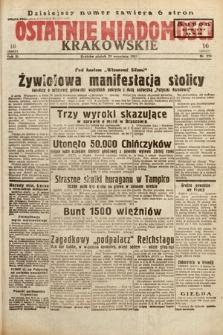 Ostatnie Wiadomości Krakowskie. 1933, nr270