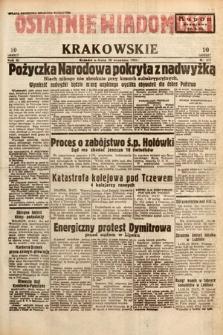 Ostatnie Wiadomości Krakowskie. 1933, nr271