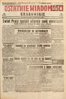 Ostatnie Wiadomości Krakowskie. 1933, nr272